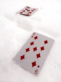 cards in the snow | by Rob Swystun