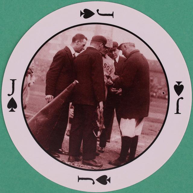 Major League Baseball Round Playing Card Jack of Spades