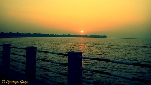 sunset sea nature beautiful peace jetty mumbai peaceofmind mandva