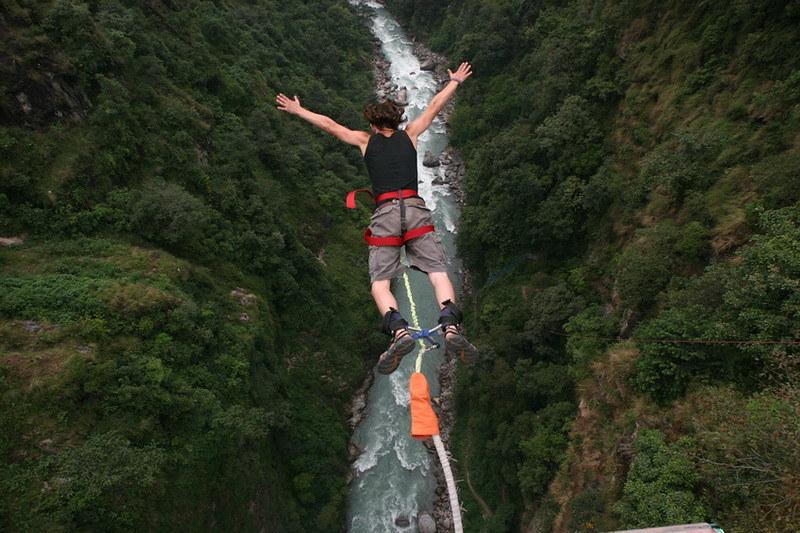 bungee jump, bhote koshi, nepal