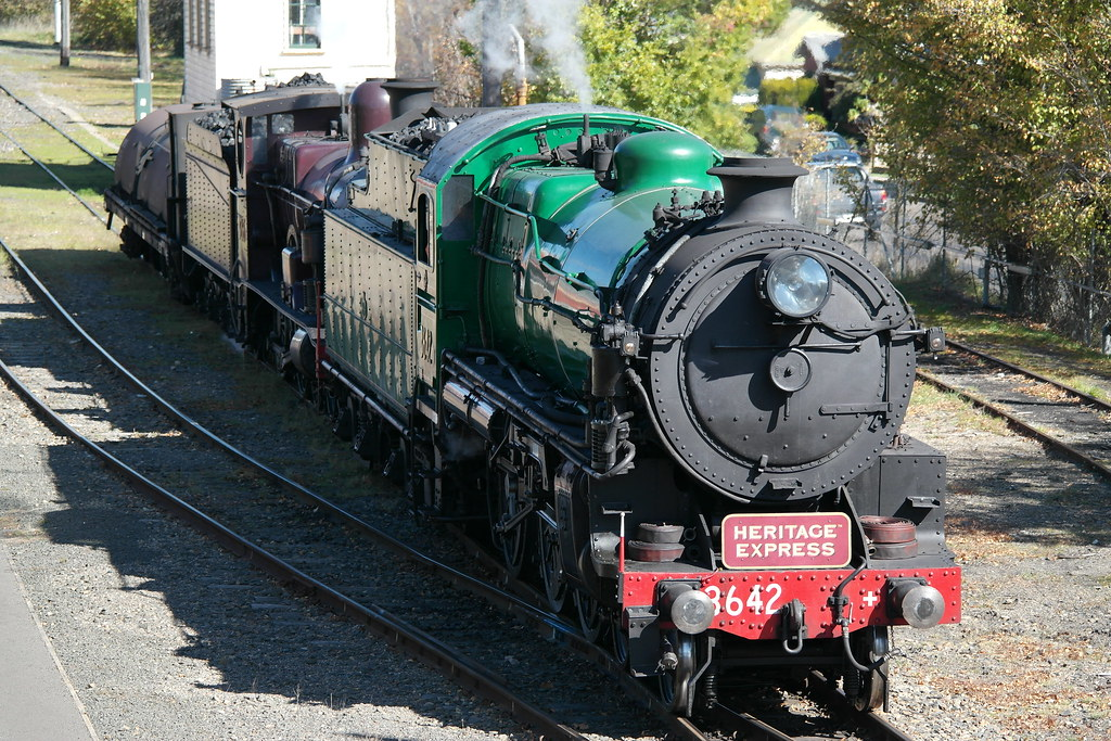 Steam Locomotive 3642 & 3265 At Moss Vale by SydNSWTrainz