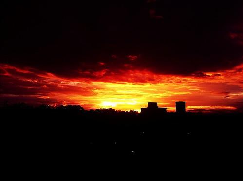 sunset sky burning uploaded:by=flickrmobile flickriosapp:filter=nofilter ramkrishnasapartment