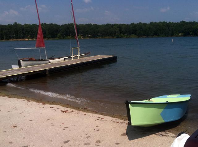Stockton Lake - My Sea Pearl 21 and Gene Berry's V-Fly (a modified Michalak Mayfly 12)