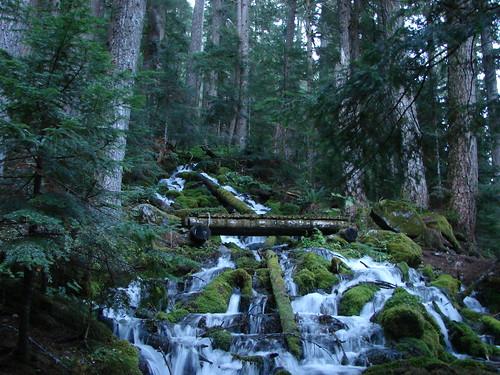 Waterfall near Pamelia Lake