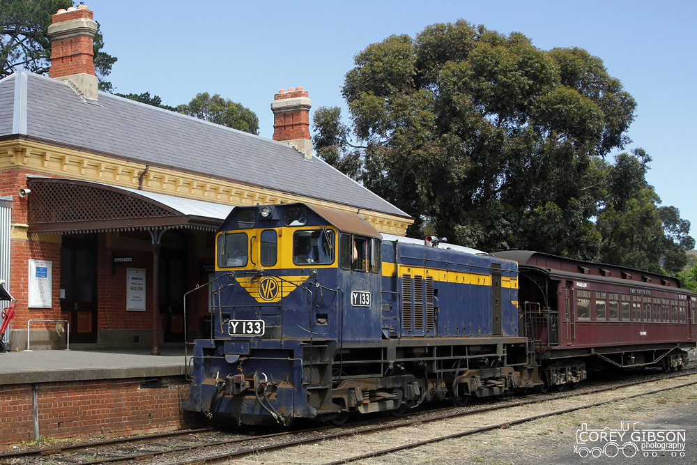 Y133 shunting duties at Maldon - Victorian Goldfields Railway by Corey Gibson