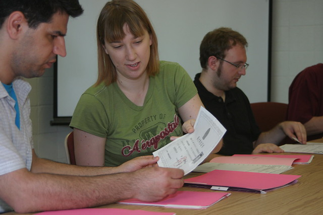 Graduate students in the admission committee