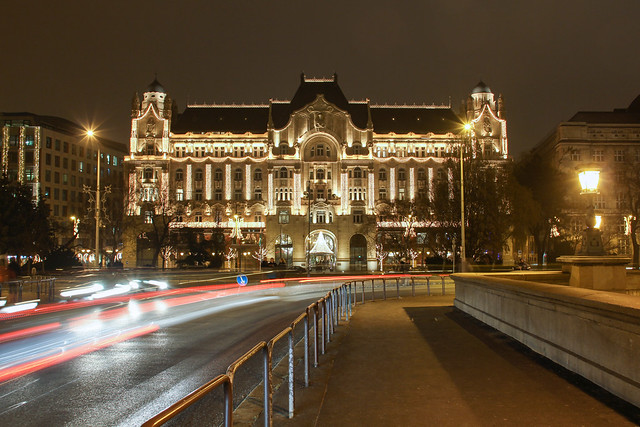 Budapest, Gresham palace at night (in Christmas time) 2