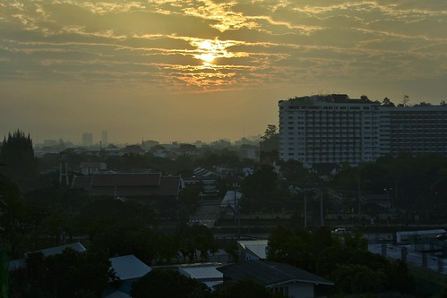 city morning urban sun sunrise landscape thailand am nikon asia cityscape mai chiang 2014 d5100 uploaded:by=flickrmobile flickriosapp:filter=nofilter greenhillplacechiangmai