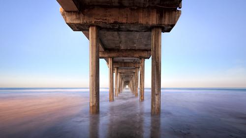 california longexposure morning blue water sunrise concrete dawn pier still sandiego under lajolla calm clear pacificocean westcoast scrippspier ucsandiego universityofcaliforniasandiego scriptsinstituteofoceanography