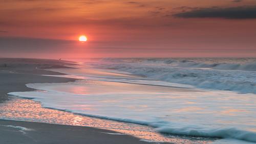 ocean park morning sea sun seascape beach sunrise canon eos li waves state longisland foam april stm fireisland 2014 robertmoses 18135 70d efs18135stm