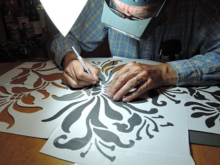 Cutting out Alabama Chanin's Magdalena Stencil | by blissing