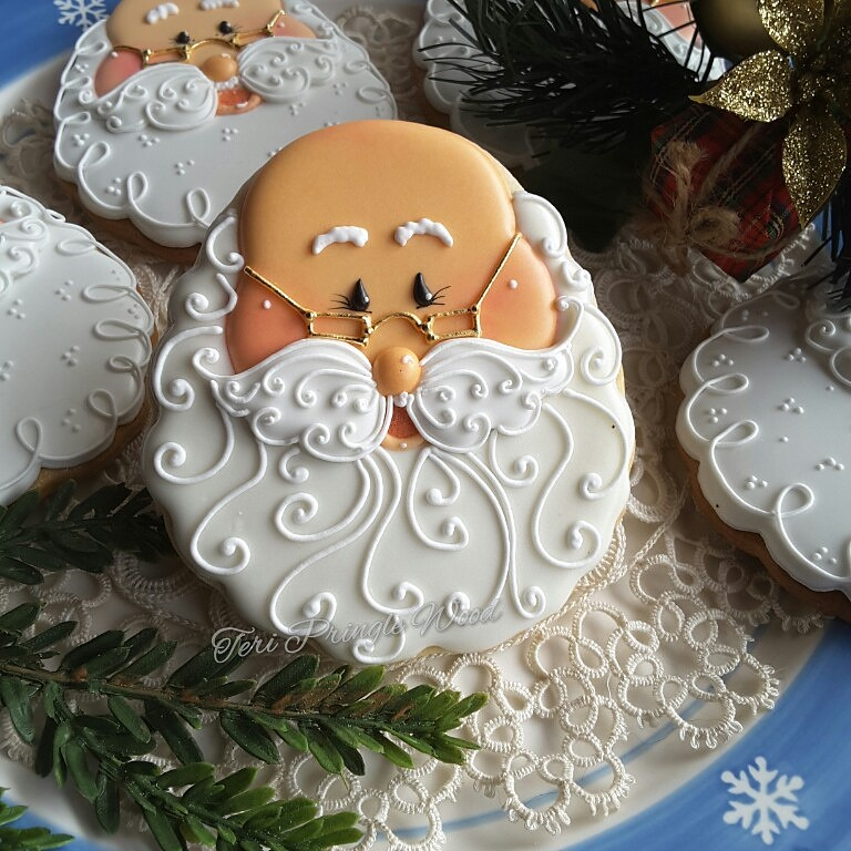 Santa Christmas Cookies Teri Pringle Wood Flickr
