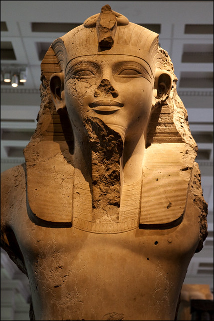 Limestone bust of Amenhotep III