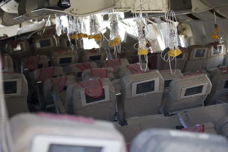 Asiana Flight 214 - interior (2)