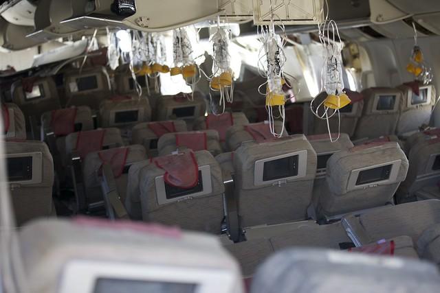 Asiana Flight 214 - interior (2)