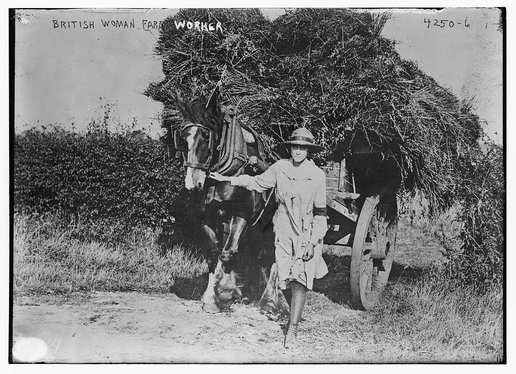 British woman farm worker (LOC)