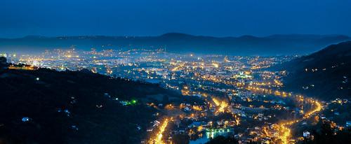 night landscape republic luka banja republika bih srpska banjaluka nocu