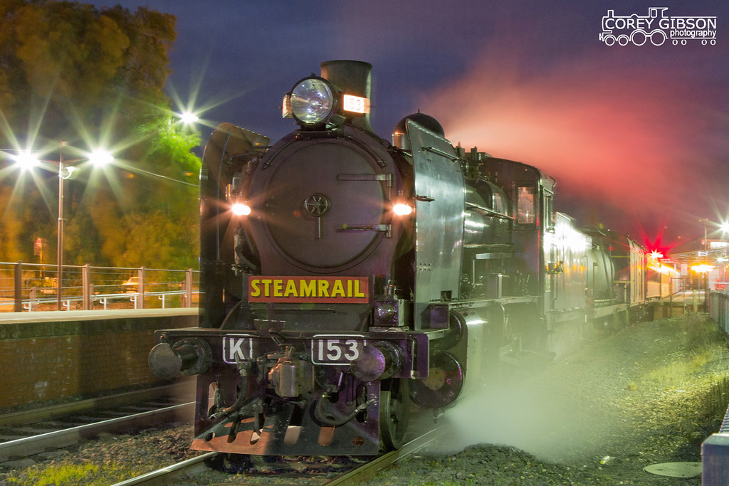 Steamrail K153 at Castlemaine Station by Corey Gibson