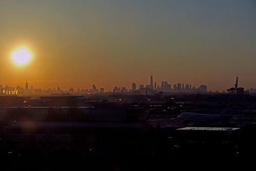 sunrise newyorkcity sky skyscrapers skyline newyorkcityskyline cities city cityscapes sunandclouds sun sunrisephotography sunrisephotographs newjersey