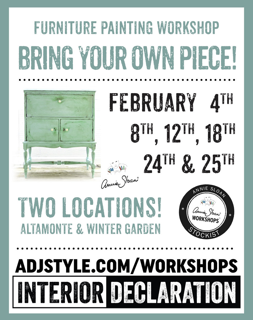 Learn how to paint furniture from the experts at Adjectives!