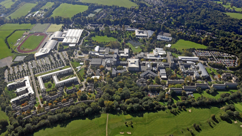 Ariel photo of the University campus
