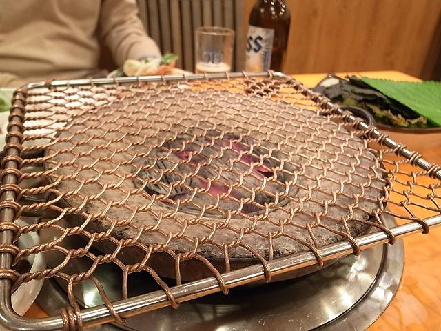 <p>e)<br /> 銅の網です。</p>