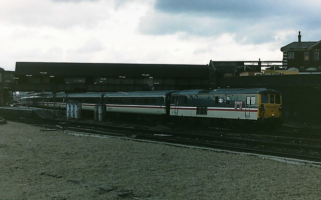 Class 73 73201 in Intercity livery at Clapham Junction