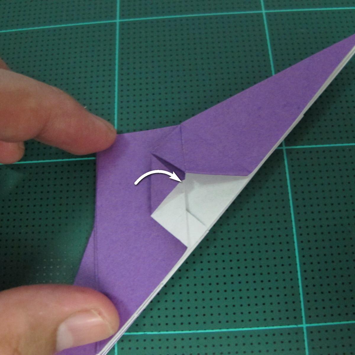 วิธีพับกระดาษเป็นรูปนกอินทรี (Origami Eagle) 012