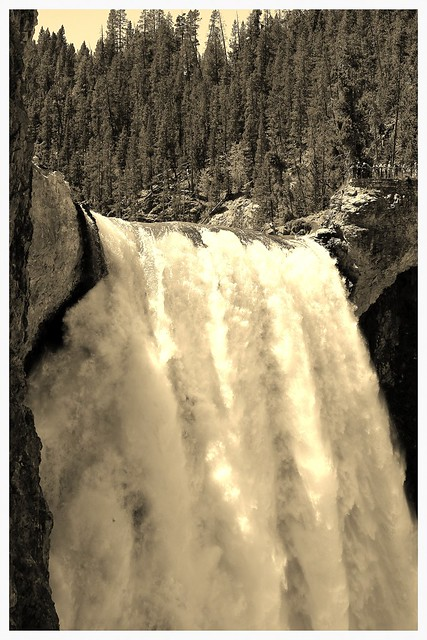 YNP ~ Lower Falls in sepia - HSS!