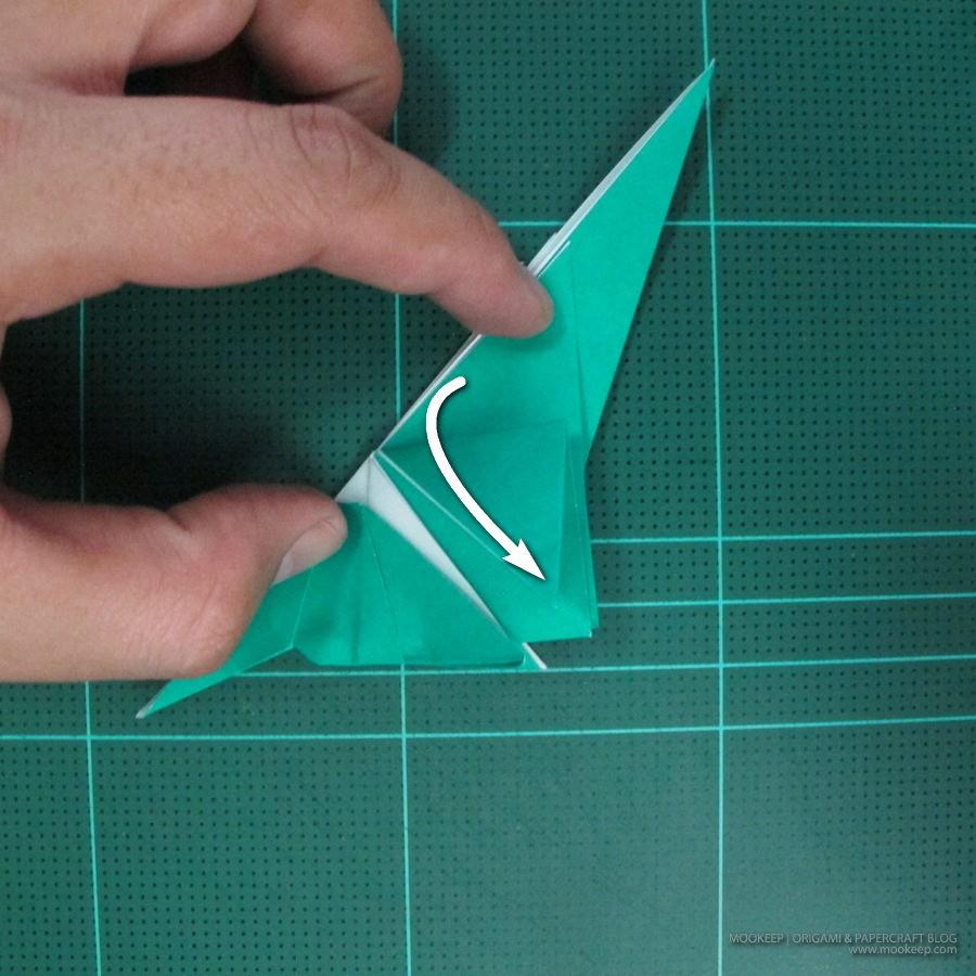 วิธีพับกระดาษเป็นรูปหมู (Origami Pig) 019