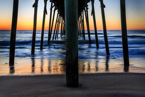 sunrise kurebeach nc northcarolina beach pier