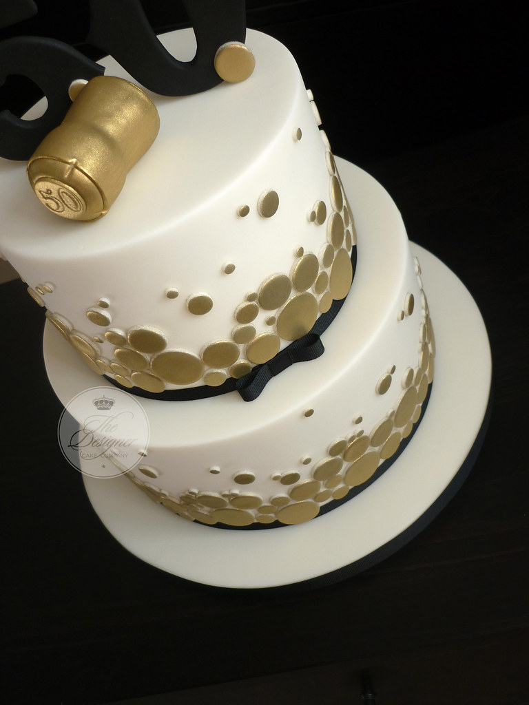 Outstanding Champagne Themed 50Th Birthday Cake Isabelle Bambridge Flickr Personalised Birthday Cards Cominlily Jamesorg
