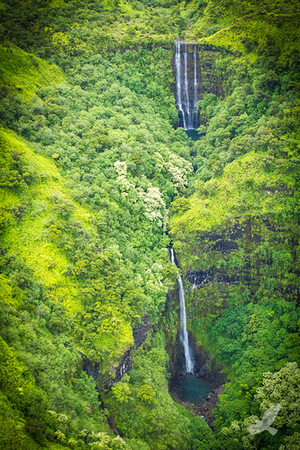 usa landscape island hawaii waterfall kauai helicopterview christianarballo