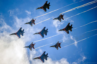 """Russian Knights"" and ""Swifts"" 