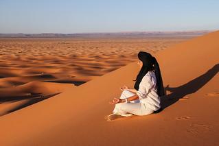 Meditating above the dunes of Sahara | by LaloFitness