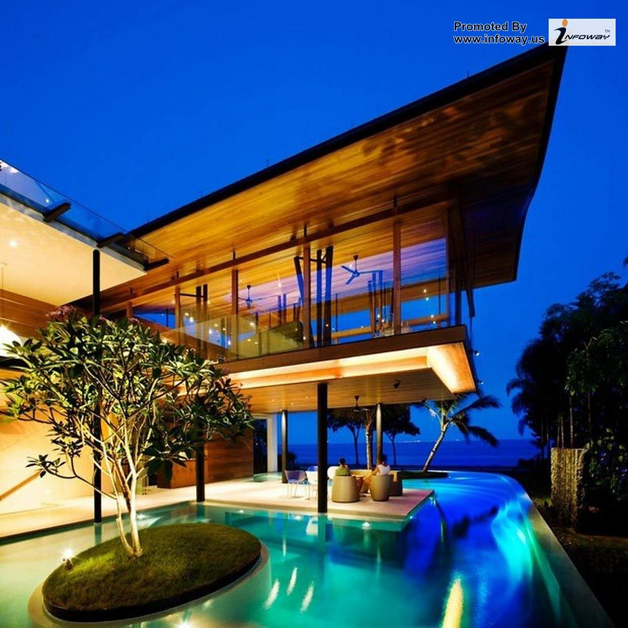 contemporary house architecture with swimming pool design ...