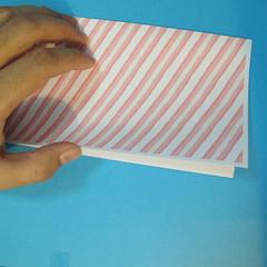 วิธีพับกล่องกระดาษรูปหัวใจส่วนฐานกล่อง 002