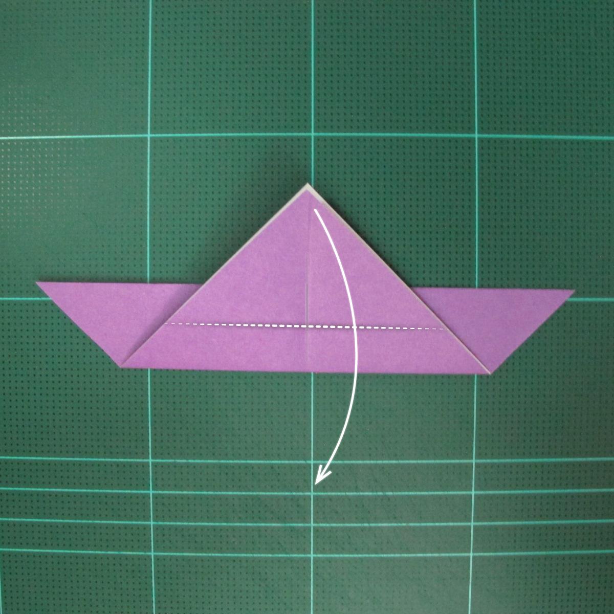 วิธีพับกระดาษเป็นนกพิราบแบบง่าย (Easy Origami Pigeon) 006