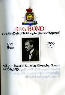 Bond, Charles Gordon (1881-1915) | by sherborneschoolarchives