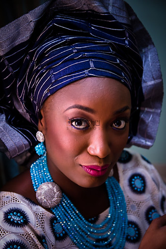 wedding portrait bride traditional nigeria ilorin