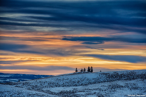 winter sunset landscape colorado gunnisoncounty