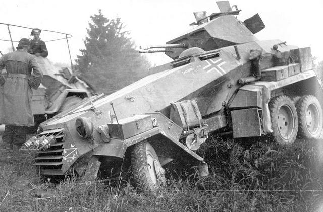 German heavy armored car Sdkfz. 231