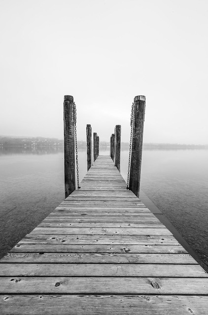 fog over the lake..
