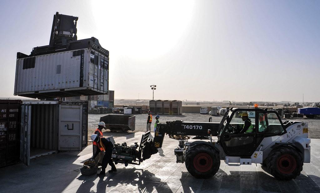 CAMP ARIFJAN, Kuwait— Contractors for the retrograde yard