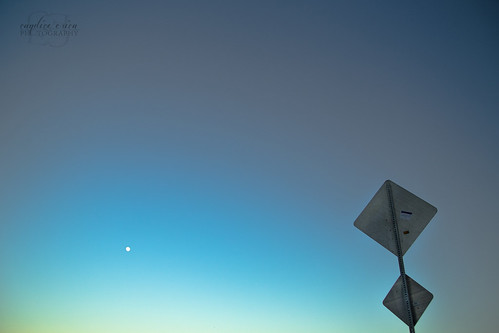california blue sunset summer sky moon sign photography grunge artsy negativespace simplicity