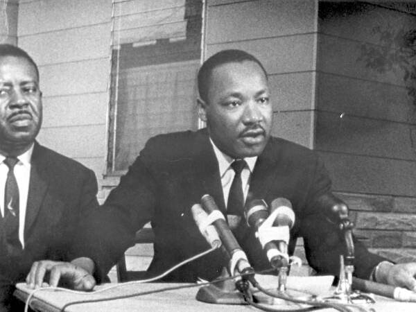Martin Luther King Jr. and Ralph Abernathy in St. Augustine, Florida