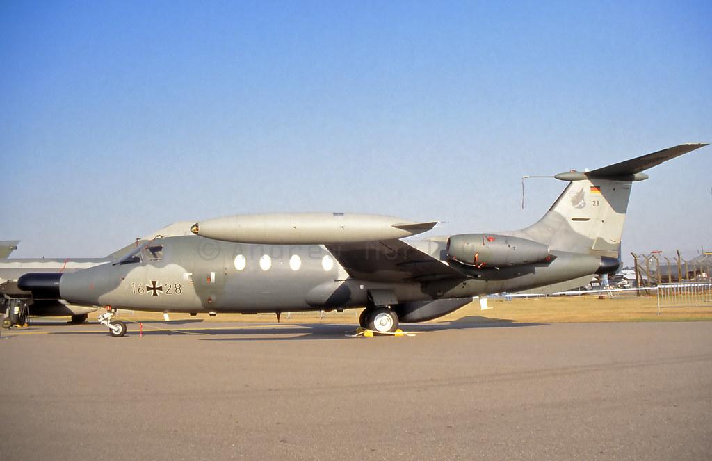 German AF Hansajet at Upper Heyford 1991.