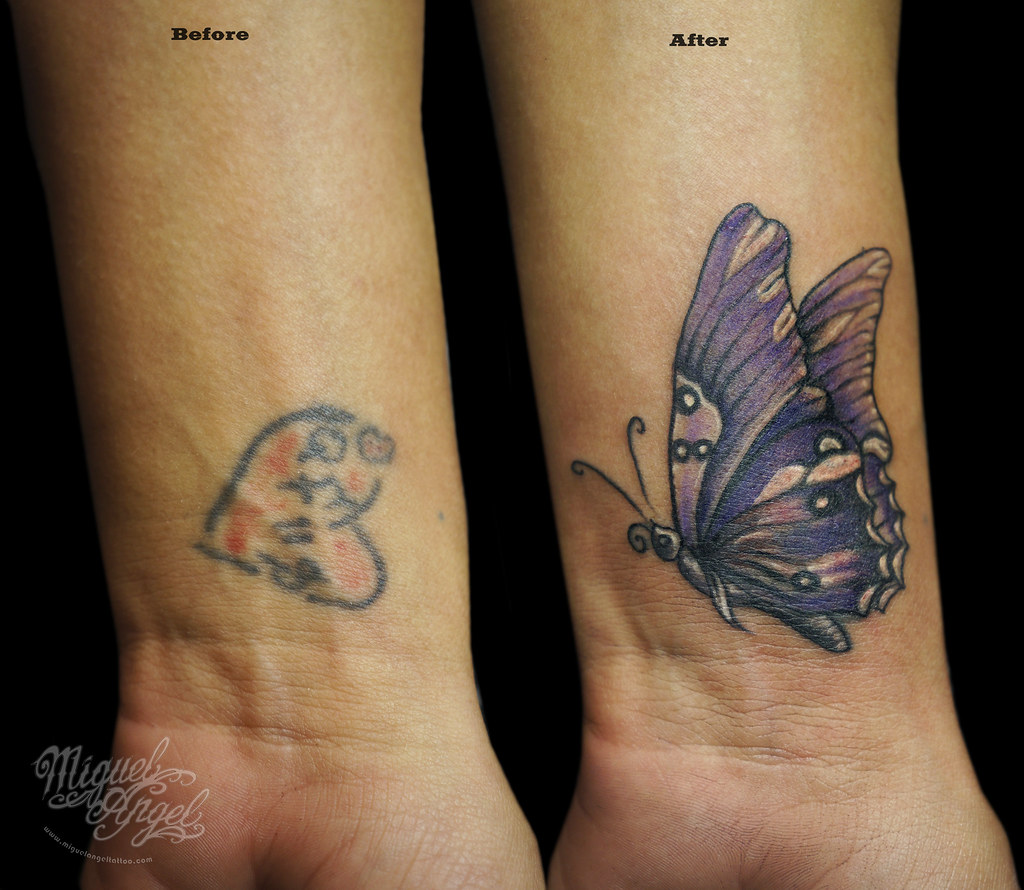 8dc1fdc2a9c1a Butterfly cover up tattoo | Miguel Angel Custom Tattoo Artis… | Flickr