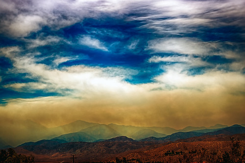 sky mountains clouds landscape fire nikon desert smoke d200 hdr hathaway deserthotsprings morongo odc movieinspired hbmike2000 hathawayfire
