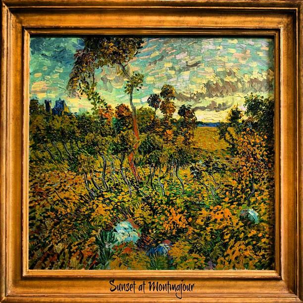 Sunset at Montmajour - Vincent Van Gogh